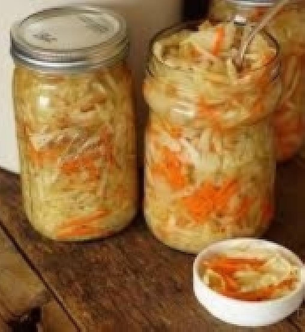 homemade fermented vegies